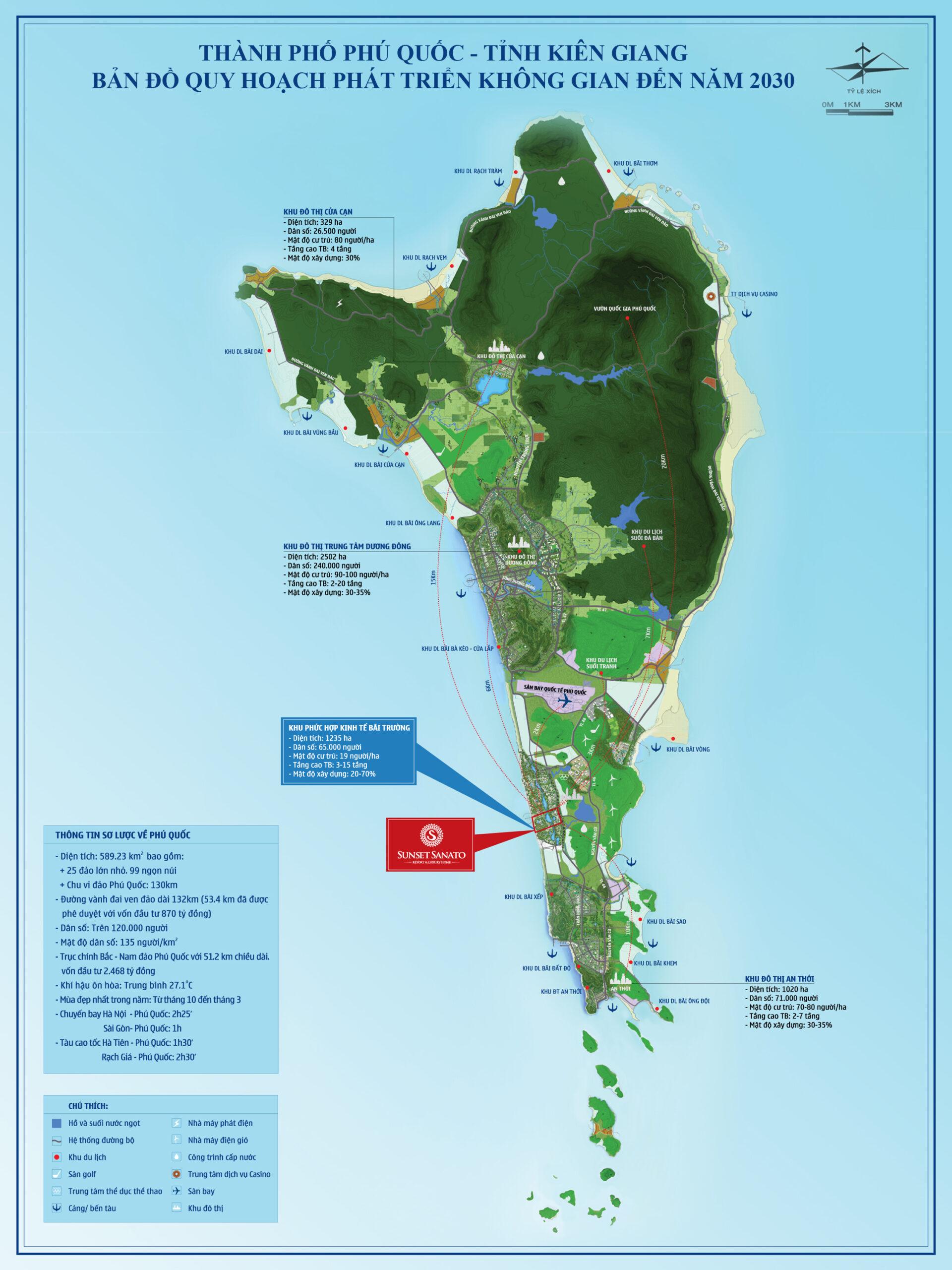 Bản đồ quy hoạch Phú Quốc chi tiết